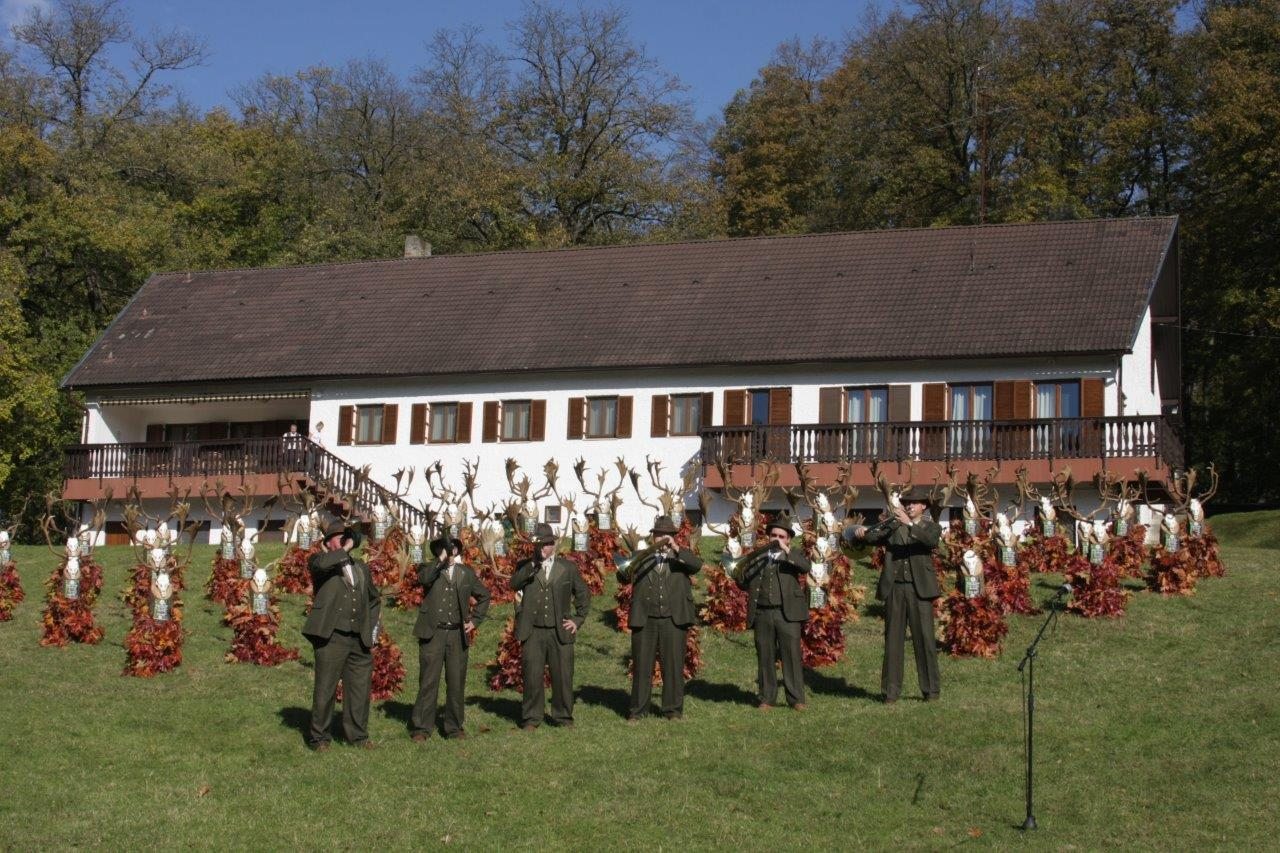 Annual fallow buck trophy show - Obirod Hunting Lodge, Gyulaj, Hungary
