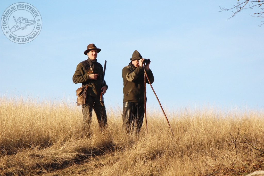 Hunting with historical firearms in Gyulaj, Hungary